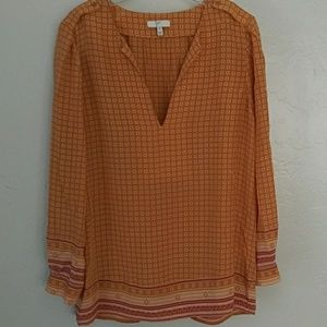 Joie, silk patterned blouse Sz. XS